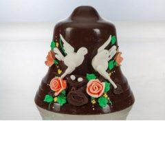 Campana di cioccolato decorata