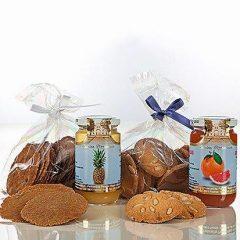 Biscotti e nettari di frutta